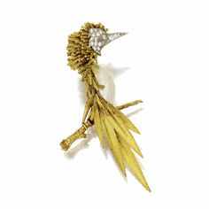 18 karat gold and diamond bird brooch, Sterlé, Paris, circa 1960 | Lot | Sotheby's