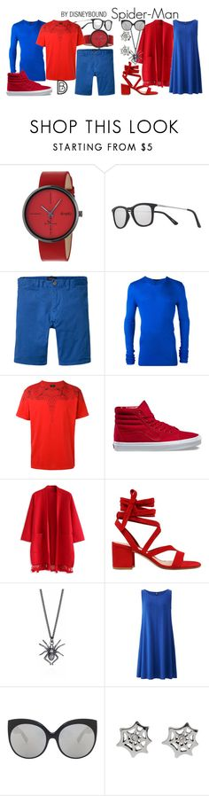 """Spider-Man"" by leslieakay ❤ liked on Polyvore featuring Simplify, UNCONDITIONAL, County Of Milan, Vans, Chicwish, Gianvito Rossi, Uniqlo, Linda Farrow, disney and disneybound"