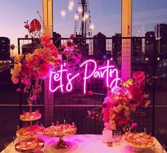 * Let's Party * Neon Sign Hire Melbourne Brisbane Sydney Perth Adelaide 21st Bday Ideas, 21st Birthday Decorations, 18th Birthday Party, Happy Birthday, Birthday Ideas, Birthday Centerpieces, Graduation Ideas, Birthday Cake, 21 Party