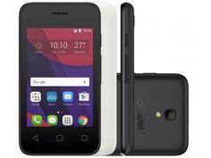 """Smartphone Alcatel PIXI4 3,5 4GB Preto Dual Chip - 3G Câm. 5MP Tela 3.5"""" Proc. Dual Core"""