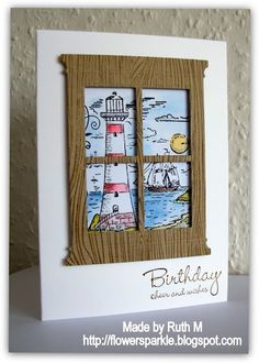 Lovely masculine card using the Madison Window die.