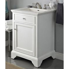 670 Fairmont Designs 24 Framingham Vanity Polar White Bathroom Vanities Only