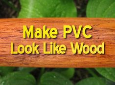 I came up with this simple trick to give PVC pipe a realistic wood texture when I built a few plastic didgeridoos a couple of years ago. It would also work for theater, home decor or backyard tiki-bars! Send an invite if you build that last one.
