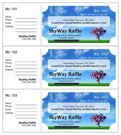 Picture Perfect Single Prize Raffle Ticket Template