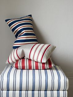 Fabrics from the Brightwood Checks & Stripes Collection by Jane Churchill
