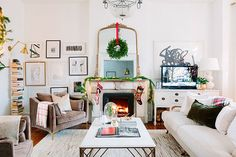 My Holiday Home Tour Is Live: Win a Petite Caitlin Chair from Interior Define! West Elm Pendant Light, Linen Bedroom, Master Bedroom, Chicago Photos, Christmas Home, Chicago Christmas, Christmas Trees, Merry Christmas, Merry And Bright