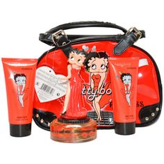 @Overstock - Betty Boop 'Princess' is gentle and light, opening with fresh notes of grapefruit, bergamot and ozonic nuances. The heart features jasmine, gardenia and rose. Amber, sandalwood, Tahitian vanilla and soft musk scents accent the base.  http://www.overstock.com/Health-Beauty/Betty-Boop-Princess-Womens-4-piece-Gift-Set/7599599/product.html?CID=214117 $30.71