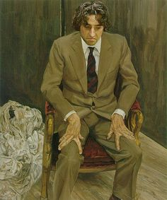 Man in a chair, 1983 // Lucien Freud
