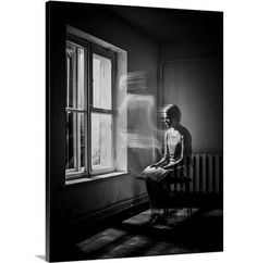 Great Big Canvas 'Presence' by Sergey Smirnov Graphic Art Print Format: White Frame, Size: H x W x D Window Photography, Conceptual Photography, Photography Editing, Light Photography, Canvas Art, Big Canvas, Canvas Size, Night Portrait, Art Graphique