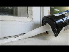 How to Caulk Windows Mobile Home Windows, House Windows, Home Renovation, Home Remodeling, Remodeling Mobile Homes, Basement Renovations, Bathroom Remodeling, Window Seal, Diy Network