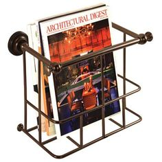 Traditional Magazine Rack - Burnished Bronze