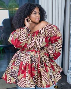 African Print fashion dresses for plus size women at Diyanu Ghana Fashion Dresses, African Wear Dresses, Ankara Dress Styles, Latest African Fashion Dresses, African Print Fashion, Fashion Prints, Fashion Styles, Ankara Tops, African Outfits