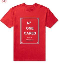 "Men's Design ""No One Cares"" letter print T Shirts Men Cotton Man T-Shirt Short Sleeve O Neck Mens Tees Tops Shirt Drop Ship"