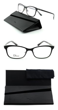 e44fadcec6a Dior Montaigne 14 Woman Metal Rectangular Eyeglasses. (Black Crystal Frame  (0GAQ)