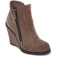 a0060cd7042e Vince Camuto Jeffers Wedge Bootie ( 118) ❤ liked on Polyvore featuring  shoes