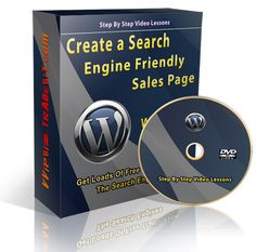 Create a Search Engine Friendly Sales Page Using Wordpress Sales Page Theme Pack Included! Learn how to create a great looking and search engine friendly sales page using Wordpress. Forget about having to know any html or knowing how and where to upload...