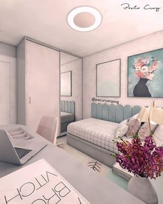 Cute Bedroom Ideas, Cute Room Decor, Girl Bedroom Designs, Teen Room Decor, Home Decor Bedroom, Bedroom Furniture, Furniture Ideas, Small Room Bedroom, Girls Bedroom