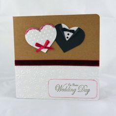 On Your Wedding Day bride  groom hearts Kraft card https://www.etsy.com/listing/170493540/wedding-card-on-your-wedding-day
