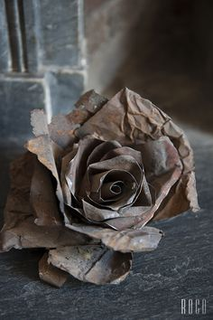 Metal Rose Sculpture