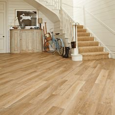 Hall with Karndean Knight Tile Pale Limed Oak laid at Karndean Knight Tile, Karndean Flooring, Vinyl Wood Flooring, Hall Flooring, Luxury Vinyl Flooring, Wood Vinyl, Kitchen Flooring, Hardwood Floors, Laminate Flooring