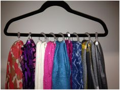 shower curtain rings to hang scarves