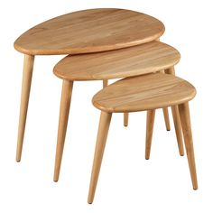 Debenhams Wooden 'Pebbles' nest of 3 tables- at Debenhams.com