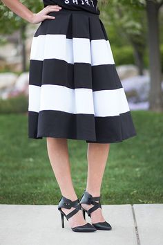 """Girl Boss Striped Skirt 