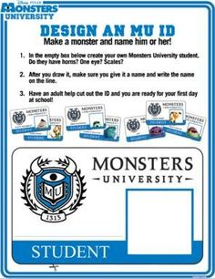 Make Your Own Monsters Inc ID Card | Monsters University ID Maker ...