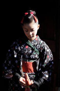 Japanese girl in kimono, beautiful