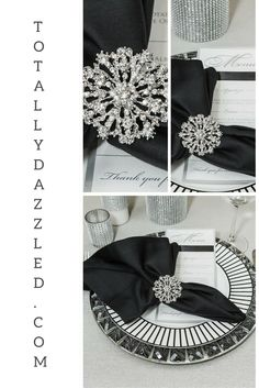 Our stunning napkin ring collection ranges in price from $1.25 to $2.75. View all of our products online at www.totallydazzled.com. We ship all orders within one business day.