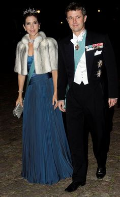 Crown Princess Mary and Crown Prince Frederik on arrival at Fredensborg Palace.
