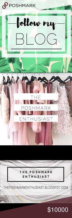 Follow My Blog for Tips & Tricks on Poshmark! My username is: valeriesar. #shopmycloset #poshmark