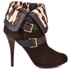 Guess Shoes - Osage - Brown Multi Suede - HeelsFans.com