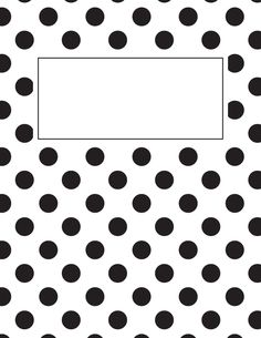 Free printable black and white polka dot binder cover template. Download the cover in JPG or PDF format at http://bindercovers.net/download/black-and-white-polka-dot-binder-cover/