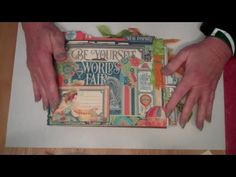Here is a flip through of my newest Album made with the Strathmore Drawing Pad and Graphic 45 World's Fair 8x8 Paper Pad. For instructions on how to do this ...