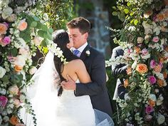 The perfect frame for photos! A gorgeous floral ceremony arch by Violetta Flowers, San Francisco.