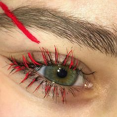 maquillage : oeil, cils, rouge, Tiana