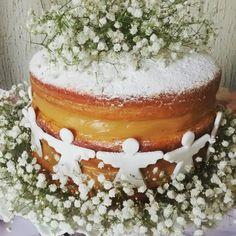 Naked Cake Batizado Mousse de Doce de Leite e Morangos!