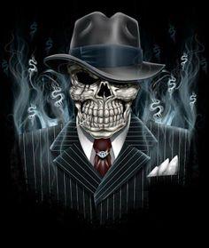 Gangster  Skull.