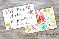 "DIY PRINTABLE Wedding Invitation, Save The Date, RSVP ""Boho"" Wedding Suite - rustic backyard wedding. $100.00, via Etsy."