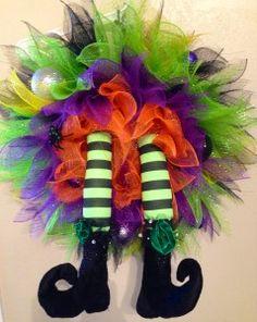 Halloween Witch Wreath   Being Genevieve