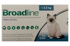 Broadline Gatos < 2,5 kg (3 pipetas)
