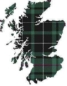 Scottish Tartan cross stitch pattern Scotland Map by XedStitches