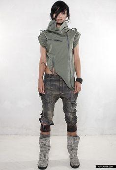 Futuristic Clothing, Collection, Demobaza, future fashion, urban style, dystopian fashion, post-apocalyptic fashion, fashion girl by FuturisticNews.com