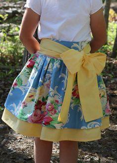 Kirstin's Skirt Pattern by Olabelhe Girls Skirt Patterns, Sewing Patterns Girls, Skirt Patterns Sewing, Sewing For Kids, Baby Sewing, Clothing Patterns, Sewing Ideas, Sewing Projects, Sewing Clothes