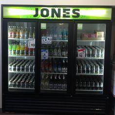 Jones Soda Seattle HQ cooler. Free soda Fridays are every week 3-5p!