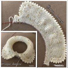 Uzun Sayılabilecek B - Diy Crafts - maallure Baby Hats Knitting, Baby Knitting Patterns, Lace Knitting, Knitting Stitches, Knitted Hats, Crochet Patterns, Baby Patterns, Crochet Baby, Knit Crochet