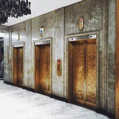 "patrickmccuephotography: "" The beautiful original elevator doors at the Renaissance Hotel on 4th/Walnut in downtown Cincinnati """