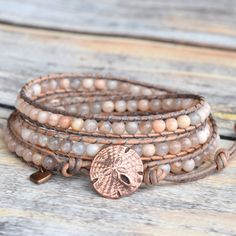Erröten Sie Wrap Armband Wrap Armband Perlen von bluefishBohemian