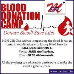 Blood Donation Camp on 23rd September 2014 http://wp.me/p4iyfw-1s3